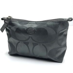 Coach Metallic Silver Cosmetic Bag